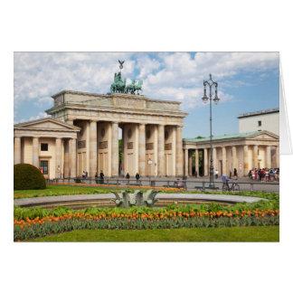 Tor de Berlín Brandenburger Tarjeta De Felicitación