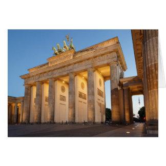Tor de Brandenburger en Berlín Tarjeta De Felicitación