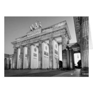 Tor de Brandenburger Tarjeta De Felicitación