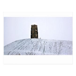 Tor de Glastonbury en invierno Tarjetas Postales