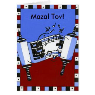 Torah musical tarjeta de felicitación