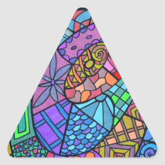 Torbellino multicolor de modelo pegatina triangular