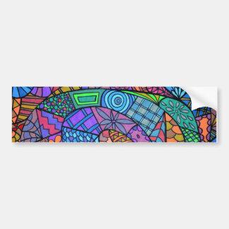 Torbellino multicolor de modelo pegatina para coche