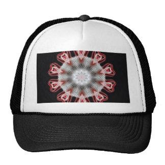 Torcido 1 arte rojo 1 del caleidoscopio gorras de camionero