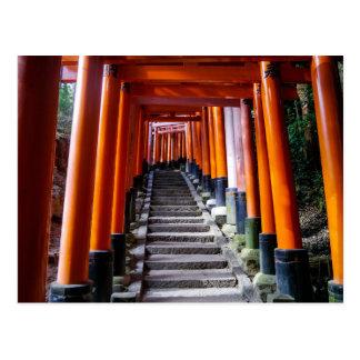 Torii en la capilla de Inari, Kyoto - postal