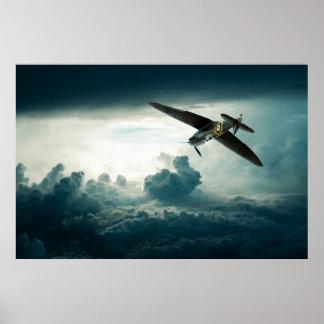 Tormenta del Spitfire Póster