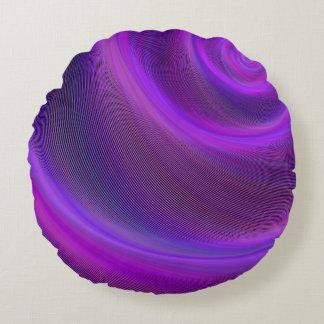 Tormenta púrpura de la noche cojín redondo