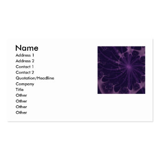 Tormenta violeta tarjetas de visita