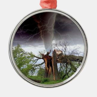 Tornado Adorno Navideño Redondo De Metal
