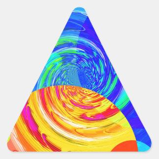 Tornados reconstruidos calcomanías triangulos