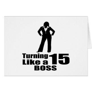 Torneado de 15 como Boss Tarjeta