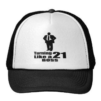 Torneado de 21 como Boss Gorras