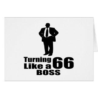 Torneado de 66 como Boss Tarjeta