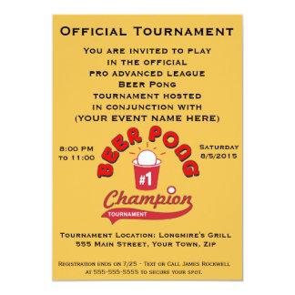 Torneo de Pong de la cerveza (fiesta) Invitación 12,7 X 17,8 Cm