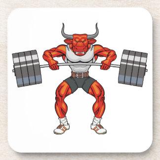 toro 2 del levantamiento de pesas posavasos