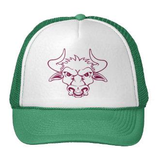 Toro enojado gorras de camionero