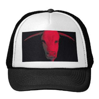 Toro rojo gorro