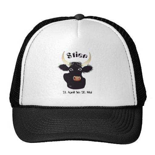 Toro - Sternzeichen Cap Gorros Bordados