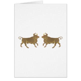 Toros bulls tarjeta de felicitación