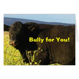 Toros del ganado de la granja del rancho de la tarjeta de felicitación