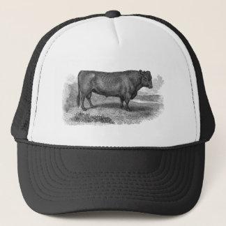 Toros retros de la vaca del ilustracion de Bull de Gorra De Camionero