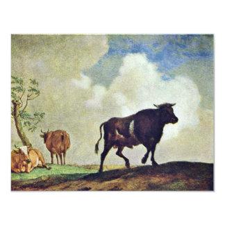 Toros y vacas del alfarero Paulus (la mejor Invitación 10,8 X 13,9 Cm