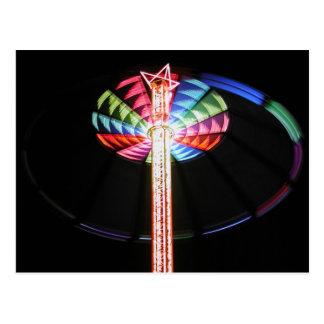 Torre-chairoplane por noche postal