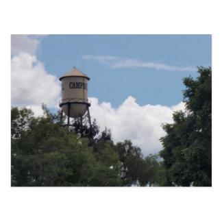 Torre de agua de Campbell, California Tarjetas Postales