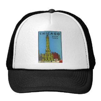Torre de agua de Chicago del vintage Gorros Bordados