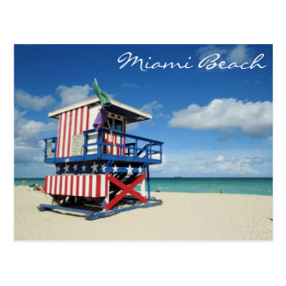 Torre de guardia de Miami Beach la Florida Postal
