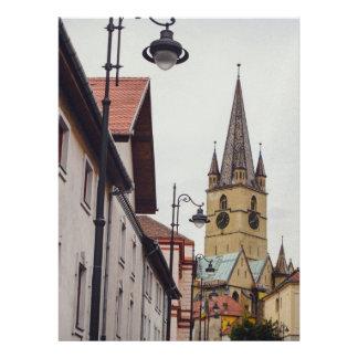 Torre de iglesia evangélica Sibiu Anuncio