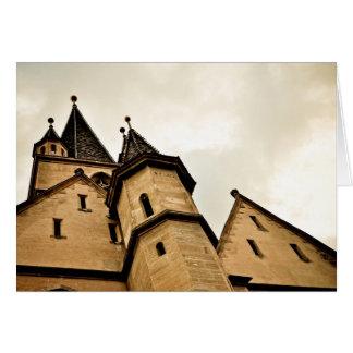 Torre de iglesia evangélica Sibiu Felicitación