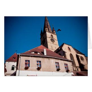 Torre de iglesia evangélica Sibiu Felicitaciones