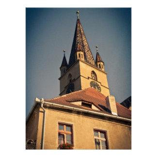 Torre de iglesia evangélica Sibiu Invitación Personalizada