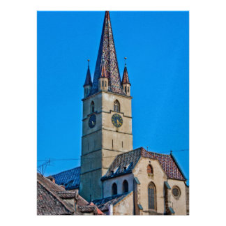 Torre de iglesia evangélica Sibiu Invitacion Personal