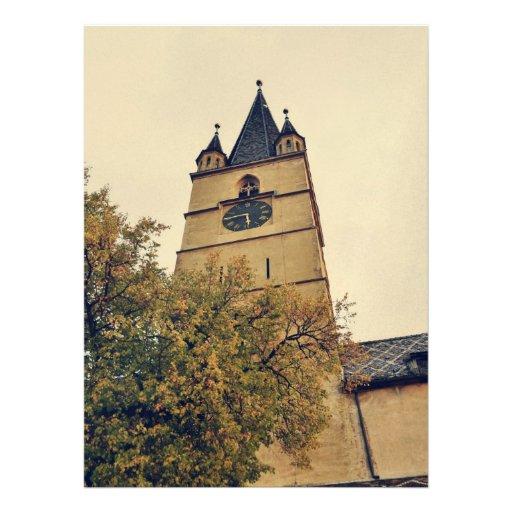 Torre de iglesia evangélica, Sibiu Anuncio
