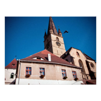 Torre de iglesia evangélica Sibiu Invitaciones Personales