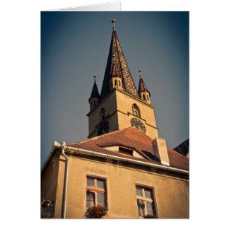 Torre de iglesia evangélica, Sibiu Tarjeton