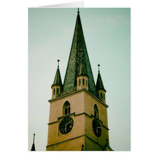 Torre de iglesia evangélica, Sibiu Tarjeta