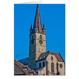 Torre de iglesia evangélica, Sibiu Tarjetón