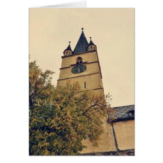 Torre de iglesia evangélica, Sibiu Felicitación