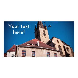 Torre de iglesia evangélica Sibiu Tarjetas Fotograficas