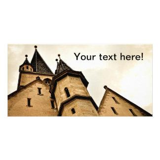 Torre de iglesia evangélica Sibiu Tarjeta Fotografica Personalizada