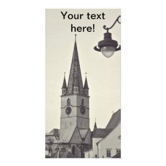 Torre de iglesia evangélica Sibiu Tarjetas Personales Con Fotos
