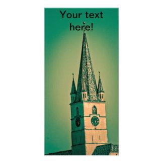 Torre de iglesia evangélica tarjeta personal con foto