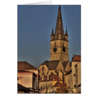 Torre de iglesia evangélica tarjetas