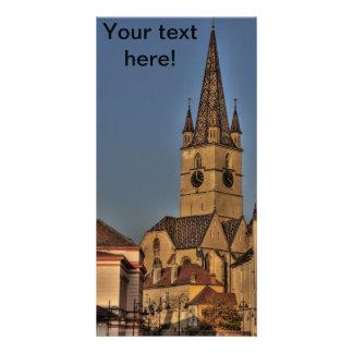 Torre de iglesia evangélica tarjetas personales
