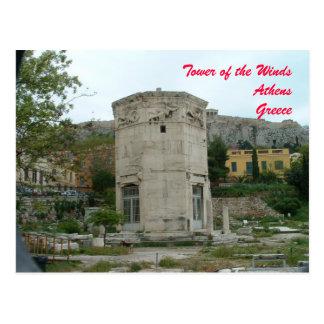 Torre de los vientos postal