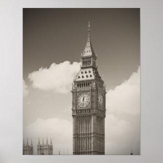 Torre de reloj de Big Ben Póster