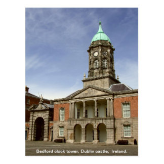 Torre de reloj del castillo Irlanda - de Bedford Postal